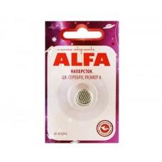 Напёрсток ALFA, цвет серебро, размер 8 AF-H1038S