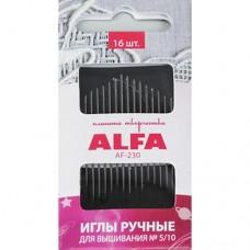 Иглы ALFA для вышивания № 5-10 AF-230