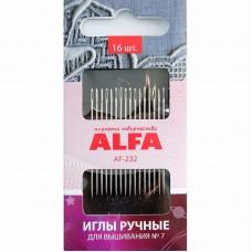 Иглы ALFA для вышивания №7 AF-232