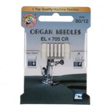 Иглы Organ для распошивальных машин № 80 5 шт. EL705-80 ECO