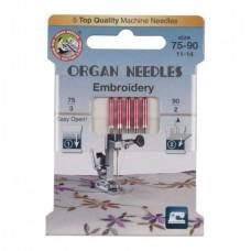 Иглы Organ для вышивания №75-90 5 шт. 130/705S 75-90 ECO