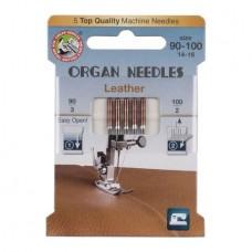 Иглы Organ для кожи № 90-100 5 шт. 130/705.90-100.5.H-L ECO