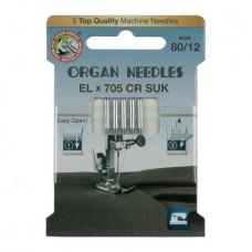 Иглы Organ для распошивальных машин стрейч № 80 5 шт. EL705-80 SUK ECO