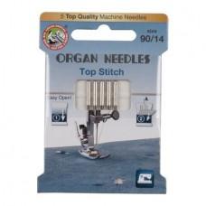 Иглы Organ для отстрочки Top Stitch № 90 5 шт. 130N.90.5.TOP.ST. ECO