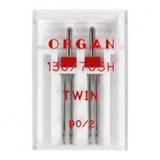Иглы Organ двойные универсальные № 90/2 2 шт. 130/705.90/2,0.2.H
