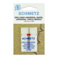 Иглы Schmetz тройные № 80/3 1 шт. 130/705H-DRI