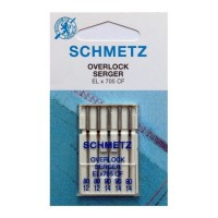 Иглы Schmetz для оверлока хромированные № 80-90 5 шт. ELx705 CF