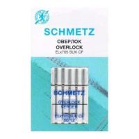 Иглы Schmetz для оверлока хромированные № 80 5 шт. ELx705 CF