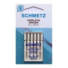 Иглы Schmetz для оверлока хромированные № 90 5 шт. ELx705 CF