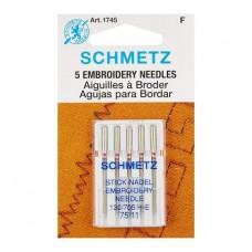 Иглы Schmetz для вышивания №75 5 шт. 130/705H-E