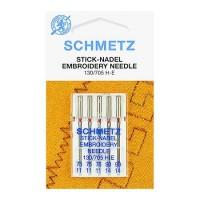 Иглы Schmetz для вышивания №75-90 5 шт. 130/705H-E