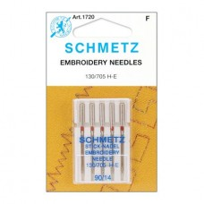 Иглы Schmetz для вышивания №90 5 шт. 130/705H-E
