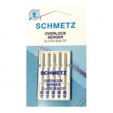 Иглы Schmetz для оверлока стрейч № 80-90 5 шт. ELx705 SUK CF