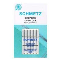 Иглы Schmetz для оверлока хромированные № 65 5 шт. ELx705 CF