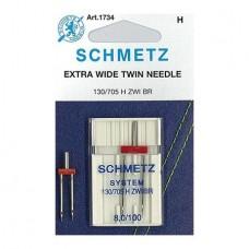 Иглы Schmetz двойные универсальные № 100/8 1 шт. 130/705H-ZWI