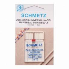 Иглы Schmetz двойные универсальные № 70/1.6 1 шт. 130/705H-ZWI