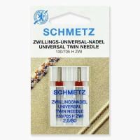 Иглы Schmetz двойные универсальные № 80/2.5 2 шт. 130/705H-ZWI