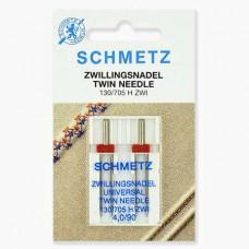 Иглы Schmetz двойные универсальные № 90/4 2 шт. 130/705H-ZWI