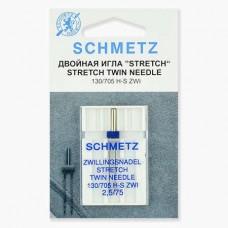 Иглы Schmetz двойные стрейч №75/2,5 1 шт 130/705H-S ZWI