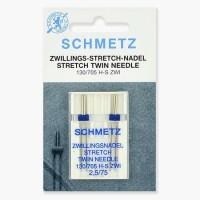 Иглы Schmetz двойные стрейч №75/2,5 2 шт 130/705H-S ZWI
