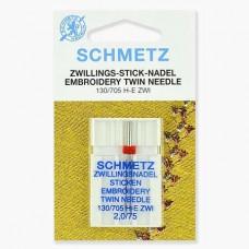 Иглы Schmetz двойные вышивальные № 75/2 1 шт. 130/705H-E ZWI