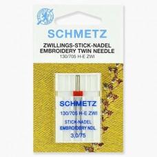 Иглы Schmetz двойные вышивальные № 75/3 1 шт. 130/705H-E ZWI