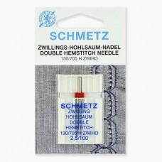 Иглы Schmetz двойные для мережки № 100/2.5 1 шт. 130/705H-ZWIHO