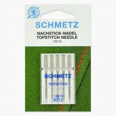 Иглы Schmetz для отстрочки TopStitch №80 5 шт 130N