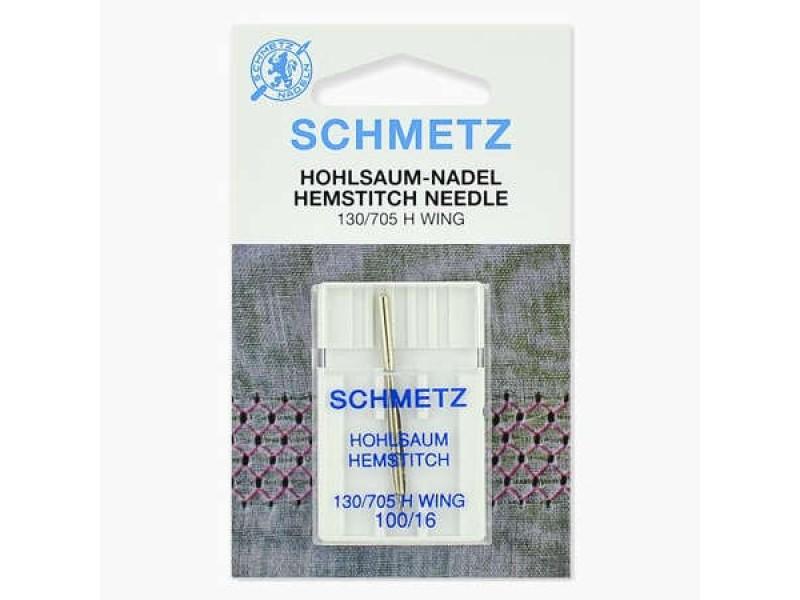 Иглы Schmetz для мережки №100 1 шт 130/705H-WING