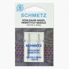 Иглы Schmetz для мережки №100 2 шт 130/705H-WING
