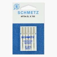 Иглы Schmetz для оверлока № 80 5 шт. ELx705