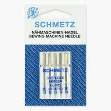 Иглы Schmetz для оверлока № 80-90 5 шт. ELx705