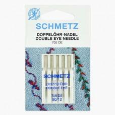Иглы Schmetz с двумя ушками №80 5 шт 705-DE