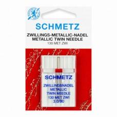 Иглы Schmetz двойные металлик № 90/3 1 шт. 130MET ZWI