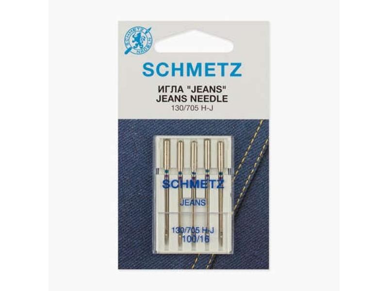 Иглы Schmetz для джинса № 100 5 шт. 130/705H-J