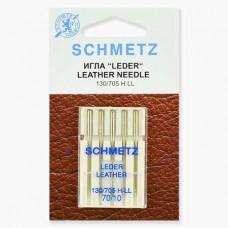 Иглы Schmetz для кожи №70 5 шт. 130/705H LL