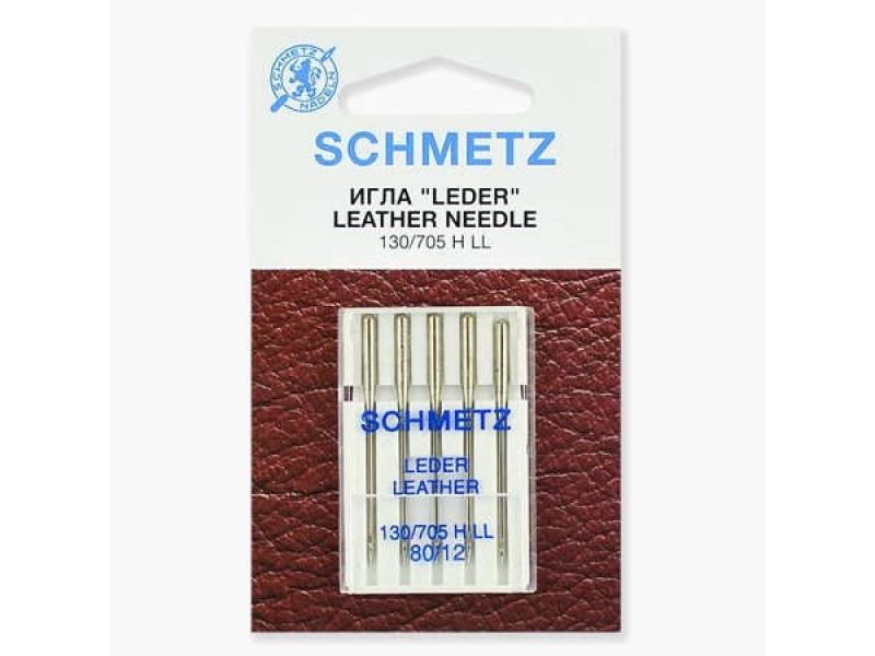 Иглы Schmetz для кожи №80 5 шт. 130/705H LL