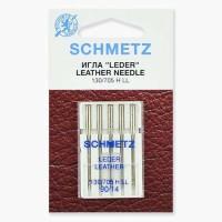 Иглы Schmetz для кожи №90 5 шт. 130/705H LL