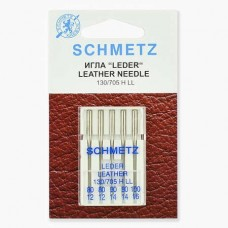 Иглы Schmetz для кожи №80-100 5 шт. 130/705H LL
