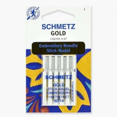 Иглы Schmetz для вышивания Gold титан №90 5 шт. 130/705H-ET