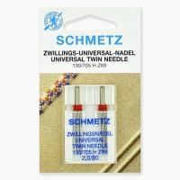 Иглы Schmetz двойные универсальные № 80/2 2 шт. 130/705H-ZWI