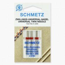 Иглы Schmetz двойные универсальные № 80/2 3 шт. 130/705H-ZWI