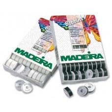 Нить нижняя MADEIRA для машинной вышивки в шпулях 1 шт 9766 чёрная