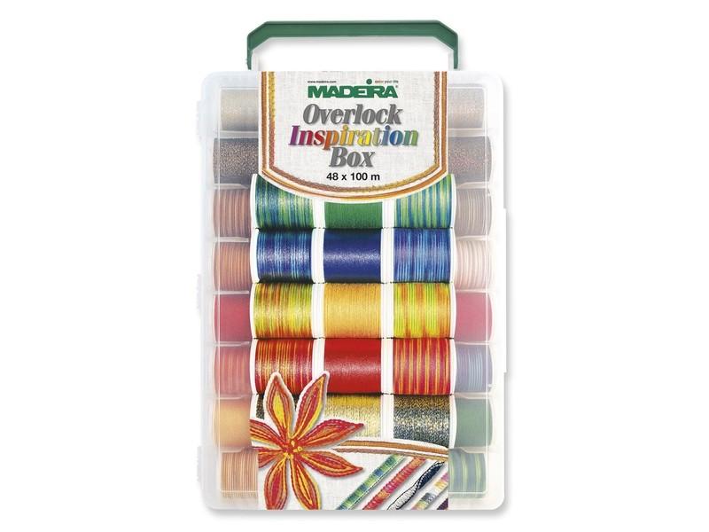 Набор ниток Madeira Overlock Inspiration Box 48 х 100 м 8048 купить в России: цена, отзывы — Швейный Советник