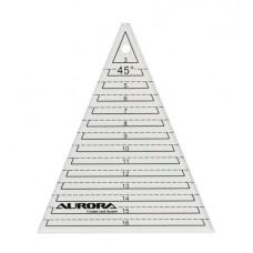 """Линейка Aurora """"треугольник"""" 45 градусов AU-45"""