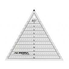 """Линейка Aurora """"треугольник"""" 60 градусов AU-60"""