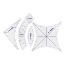 """Набор линеек Aurora для пэчворка """"свадебные кольца"""" малый AU-6175"""