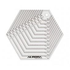 """Линейка Aurora """"шестиугольник"""" AU-H14"""