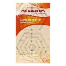 "Шаблон Aurora для пэчворка ""шестиугольник"" AU-S6"