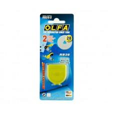Лезвие OLFA сменное 28 мм 2 шт RB28-2
